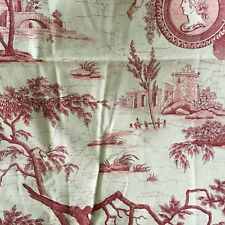tissu ancien toile de jouy 260x60 cm