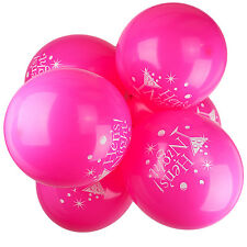 Pack of 10 -12'' Hen Party Night - Style Lips Pink Printed Latex Balloons