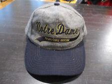 VINTAGE Starter Notre Dame Fighting Irish Snap Back Hat Cap Script Heather Gray