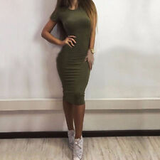 Womens Bodycon Bandage Midi Dress Ladies Slim Evening Party Formal Lace Clubwear