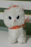 WHITE CAT PLUSH TOY WITH ORANGE BOW SEGA DISNEY FUN FAN AMUSE PRIZE COLLECTION!