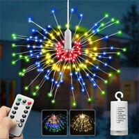 240LED Hanging Firework LED Fairy String Light Christmas Party Decor Xmas Remote