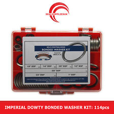 """Imperial Dowty Bonded Seal/Washer Kit Self Centering - 1/8"""" to 1"""" BSP - 114pcs"""