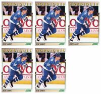 (5) 1991-92 Score Young Superstars Hockey #20 Joe Sakic Card Lot Nordiques