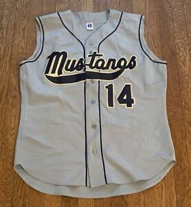 Mustangs #14 Russell Athletic Softball Baseball Jersey Size XL