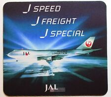 JAL Japan Airlines 1970's  Mouse Pad  - 747   Freight Super Logistics 8x7-1/2""