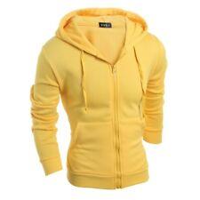 Mens Hooded Zipper Hoodie Jacket Slim Fit Sweatshirt Plain Pocket Sportswear New