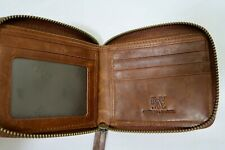 GENUINE LEATHER ZIPPED UP WALLET MENS