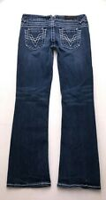 N255 Vigoss FIT: BOOTCUT Low Rise Stretch Jeans Tag sz 9 x 30 (Mea 31x31.5)