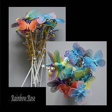 Butterfly & Dragonfly Fairy Wand x 12 BULK wands Party Favour Gift Resell #J