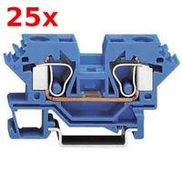 25x Wago Durchgangsklemme 284-604 Reihenkleme 10qmm blau Din-Schiene Hutschiene