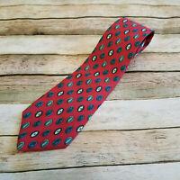 Burberrys of London Vintage Red Spheres Necktie Tie Made in USA EUC 100% Silk