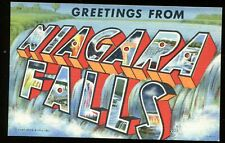 Vintage Postcard Greetings From Niagara Falls New York