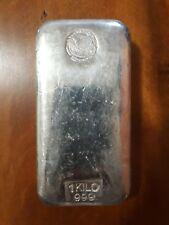 1kg Kilo Silver Ag 999 Perth Mint Old Style Left Swan Cast Bar (bullion, gold)
