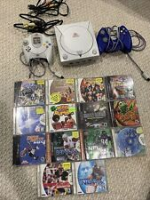 Sega Dreamcast System Console w 14 Games 2 Controllers Tested