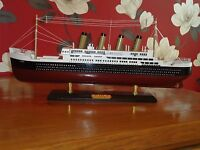 Model Titanic Ship On Stand Made From Wood with lots of detail - Maritime / Boat
