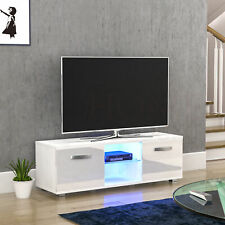 Cosmo LED TV Stand Cabinet Unit 2 Door Matte Gloss MDF Furniture White 120cm