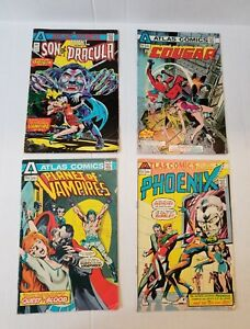 ATLAS COMICS 1975 SON OF DRACULA The COUGER, Planet of VAMPIRES, PHOENIX #1s #2s