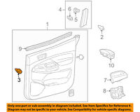 TOYOTA OEM Interior-Rear Door-Frame Trim Clip 90467A0006