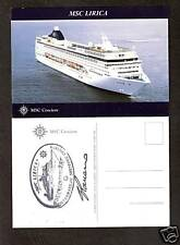 Msc Lirica. Msc Cruises pc Capt.Signed & Ships Official Stamp