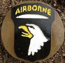 Airborne 8 plaque, stepping stone,  plastic mold, concrete mold, cement