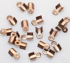 6mm/9mm Wholesale 500 Fold Over End Cord Crimp Bead Cap Gold&Silver Bronze