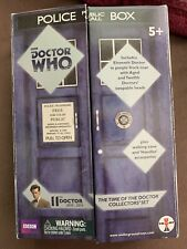 Doctor Who Eleventh Doctor-Time Of The Doctor Action Figure Set Police Box Nib