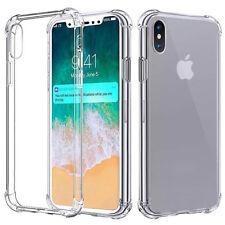 NEW iPhone X Xs 11 Pro Max XR 8 7 6 Soft TPU Shockproof Transparent Back Case