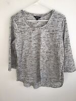 Simply Vera Wang Womens 3/4 Sleeved Pullover Top Size:L Heathered Gray