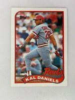 Kal Daniels Cincinnati Reds 1989 Topps Baseball Card 45