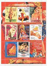 Brigitte bardot film icône sex symbol somalie 2002 neuf sans charnière timbre sheetlet