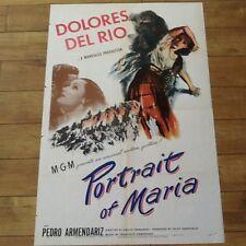 """Dolores Del Rio in """"Portrait of Maria""""  MGM 1946 with Pedro Armendariz"""