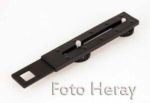 Kamera Schiene mit zwei Schauben 1/4 für Kameras Blitz Schiene 03757