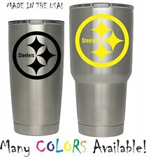 Pittsburgh Steelers Football Decal for NFL YETI Tumbler 20 30 Ozark RTIC Sticker