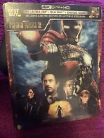 IRON MAN 2 Steelbook 4K Ultra HD + Blu-ray BRAND NEW SEALED