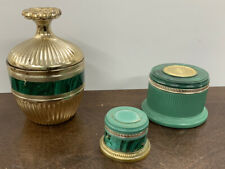Vintage Lot Of 3 Avon Regence Perfume Cologne Glass Bottle Green Collection