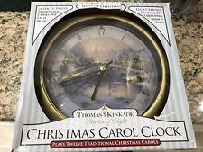 Thomas Kinkade Christmas Carol Clock New Plays 12 Songs