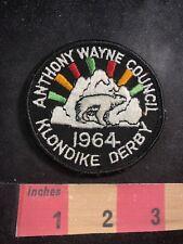 Vtg 1964 Anthony Wayne Council Klondike Derby Boy Scout Patch Polar Bear O91C