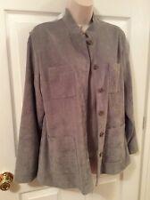 Norton Studio Women's Size 10 Sage Green Career Jacket Blazer Polyester Spandex