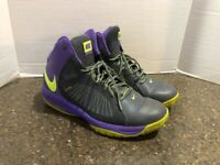 NIKE AIR MAX ACTUALIZER II MEN'S PURPLE/BLACK/GREEN BASKETBALL SHOES SIZE 11.5