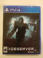 OBSERVER (Sony Playstation 4) PS4 - Limited Run #162 COMPLETE VG RARE FREE S/H