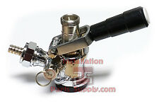 "Domestic Sankey ""D"" Style System Chrome Body SS Lever Draft Beer Keg Coupler Bar"