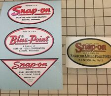 Snap-on tools Blue-Point Decals restore tool boxes vintage rat rod Price Drop
