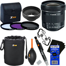 "Canon EF-S 10-18mm f/4.5-5.6 IS ""STM"" Wide Zoom Lens + 3pc Filter Set + 8pc Kit"