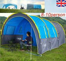 Large Outdoor Tunnel Tent Waterproof- Large Family Group Party Camping Travel