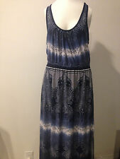 PREOWNED!!! BEAUTIFUL ABS FULL LENGHT SLEEVELESS DRESS SIZE SMALL!!! VIBA