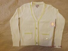 NEW JUICY COUTURE KIDS GIRLS KNIT CARDIGAN IVORY SWEATER SIZE 8