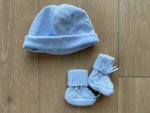 ralph lauren baby boy 6 months 2 Items Hat And Little Knit Booties