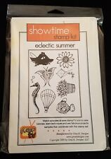 Gina K Stamp Set ECLECTIC SUMMER Showtime Stamp Kit Rubber Stamps