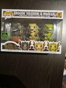 Drogon, Viserion & Rhaegal 3-Pack ECCC 2020 Exclusive - Game of Thrones - Funko